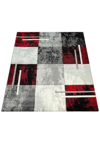 Paco Home Teppich »Diamond 663«, rechteckig, 18 mm Höhe, 3D-Design, Kurzflor mit Karo Muster, Wohnzimmer kaufen