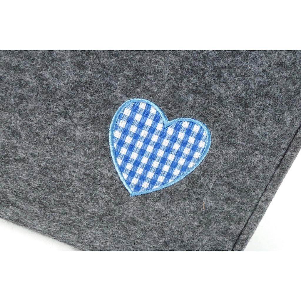 locker Aufbewahrungstasche »Blaues Herz«