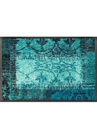 wash+dry by Kleen-Tex Fußmatte »Vintage Patches«, rechteckig, 7 mm Höhe,... kaufen