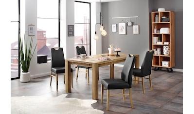 Home affaire Essgruppe »Nils 9« (Set, 5 - tlg Tisch 180/90 cm, 4 Polster - Stühle) kaufen