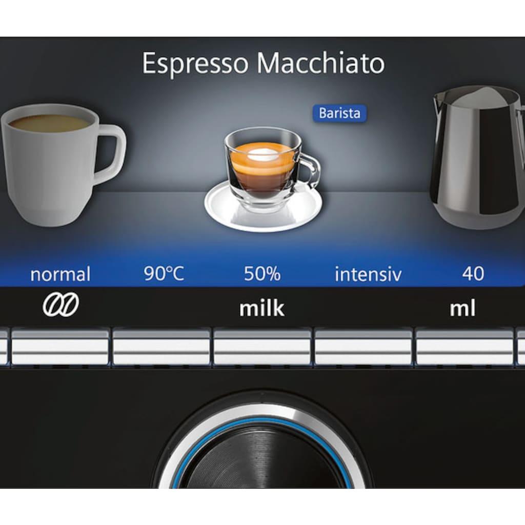 SIEMENS Kaffeevollautomat »EQ.9 plus connect s700 TI9578X1DE«, 2 separate Bohnenbehälter und Mahlwerke, extra leise, automatische Reinigung, bis zu 10 individuelle Profile