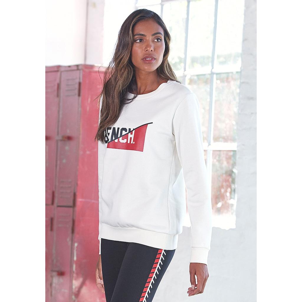 Bench. Sweatshirt, mit frontalem Logodruck