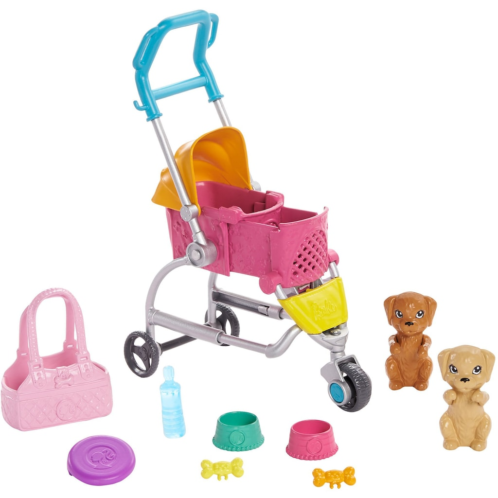 Barbie Anziehpuppe »Hunde-Buggy«
