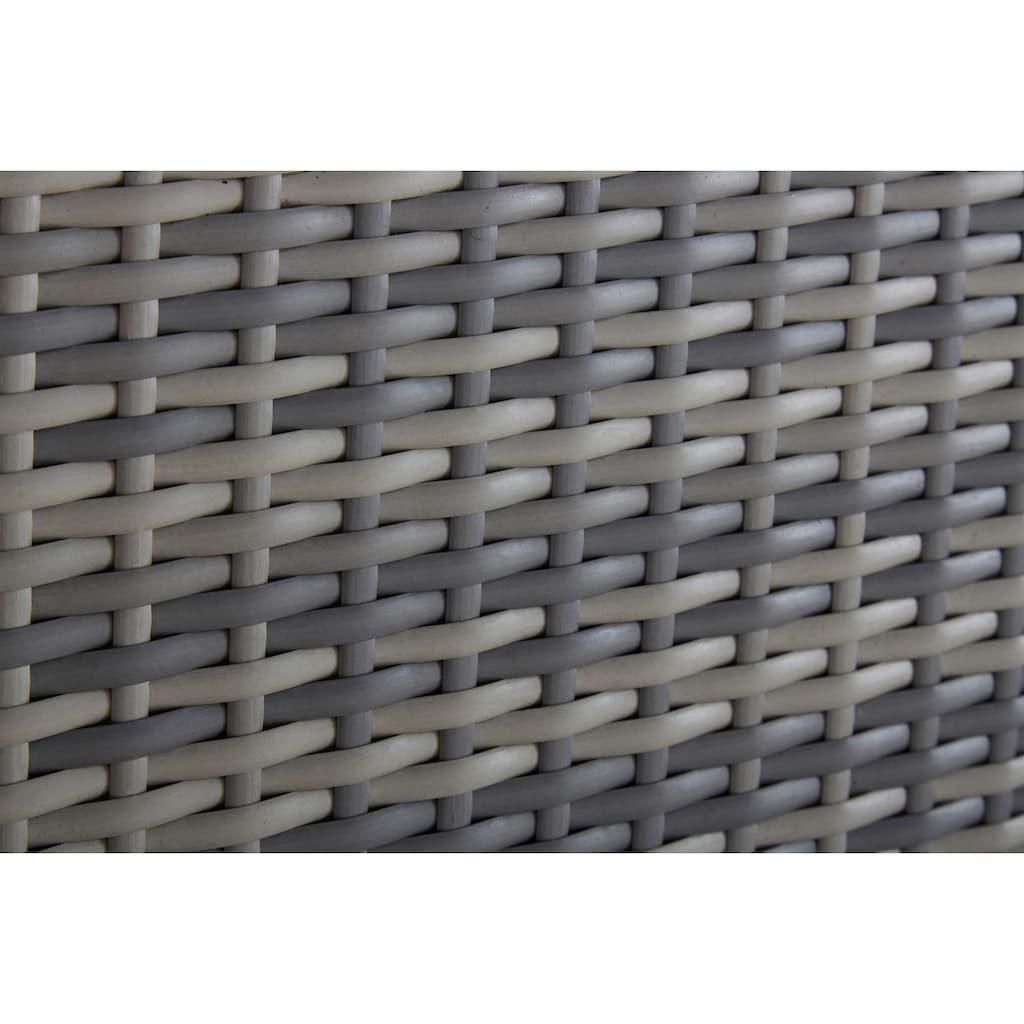 KONIFERA Loungeset »Catania«, (12 tlg.), Eckbank, Hocker, Tisch 1x59 cm, Polyrattan