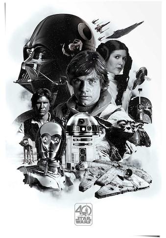Reinders! Poster »Poster Star Wars 40 Jahre«, Science-Fiction, (1 St.) kaufen