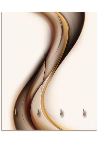 Artland Schlüsselbrett »Welle«, aus Holz mit 4 Schlüsselhaken – Schlüsselboard,... kaufen