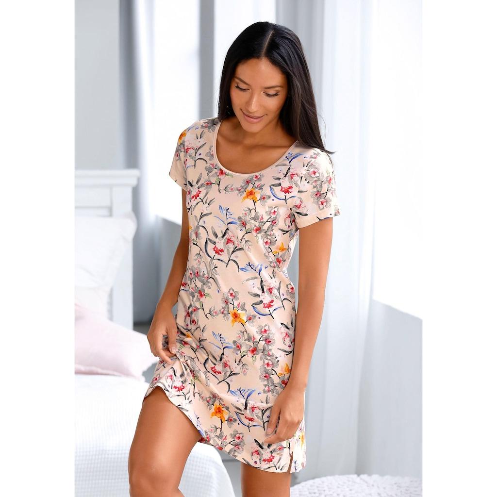 s.Oliver Bodywear Nachthemd, mit Blumenmuster