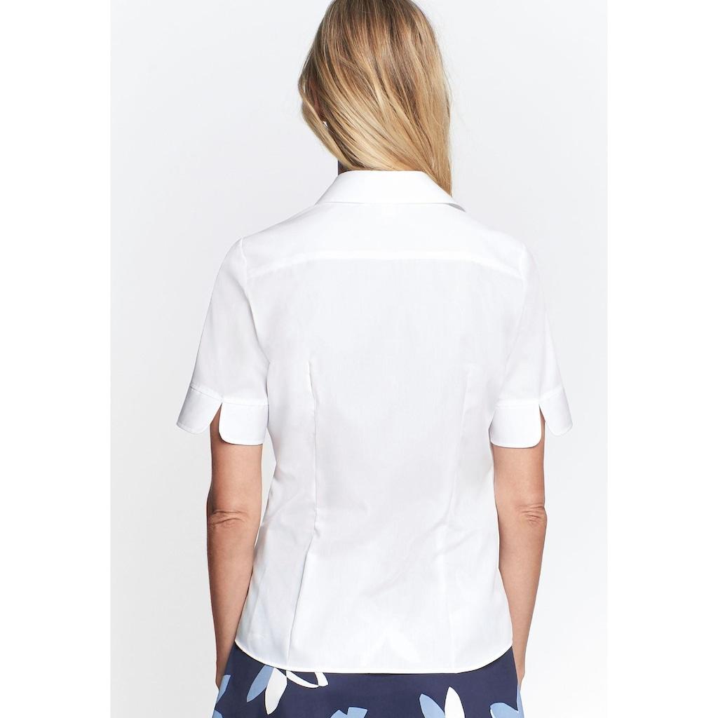 seidensticker Klassische Bluse, mit kurzen Ärmeln