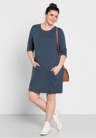 Sheego Sweatkleid, mit Kängurutasche kaufen