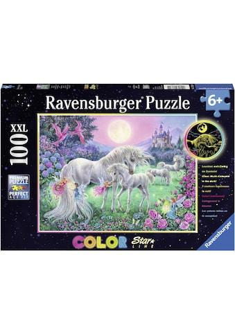 Ravensburger Puzzle »Color Star Line, Einhörner im Mondschein«, leuchtet im Dunkeln, Made in Germany, FSC® - schützt Wald - weltweit kaufen