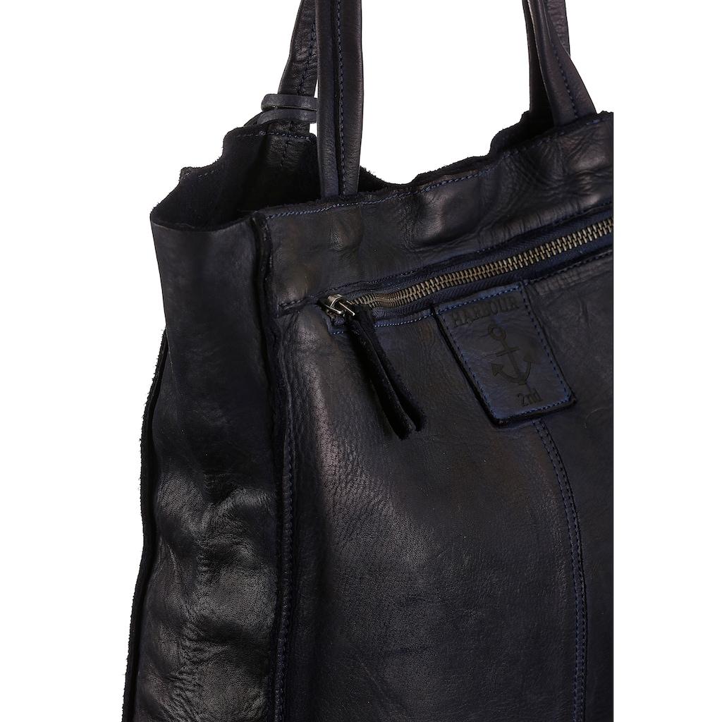 HARBOUR 2nd Shopper »B3-6595 al-Elbe 1«, aus Leder mit typischen Marken-Anker-Label und Schmuckanhänger