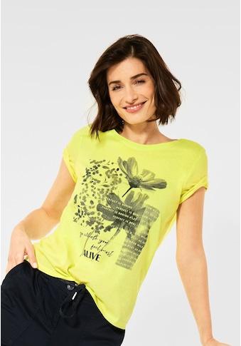 Cecil Rundhalsshirt, mit Blumenprint kaufen
