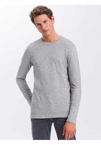 Cross Jeans® Langarmshirt »15548«, Meliertes Longsleeve kaufen