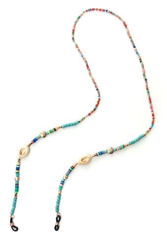 J.Jayz Brillenkette »Muscheln, maritim, bunt«, mit Natursteinen, Acryl- und Glasperlen kaufen
