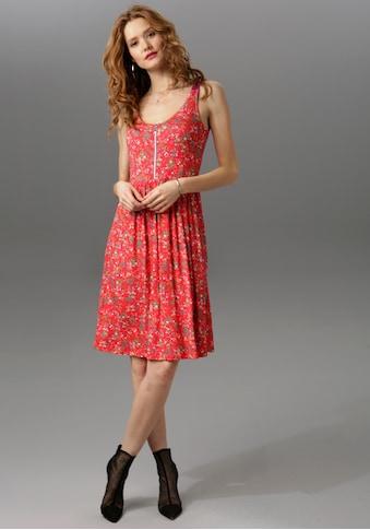 Aniston CASUAL Sommerkleid, mit Stern-Anhänger am Reißverschluss kaufen