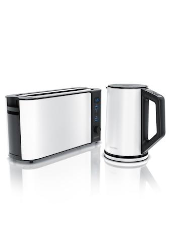 Arendo Frühstücks Set 2-teilig in Weiß kaufen