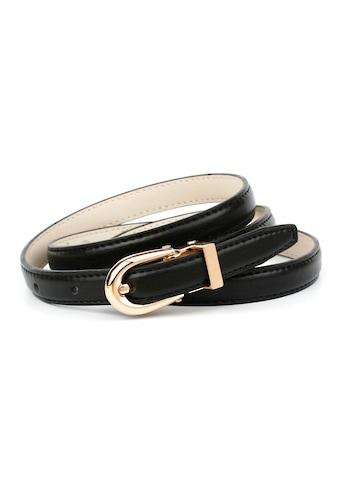Anthoni Crown Ledergürtel, in Hirschprägung, mit ovaler Schließe kaufen