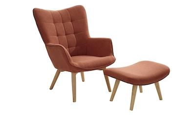 Sessel+Hocker dekorative Ziersteppung und Kederheftung kaufen