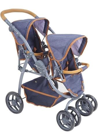Knorrtoys® Puppen-Zwillingsbuggy »Milo - dark blue« kaufen