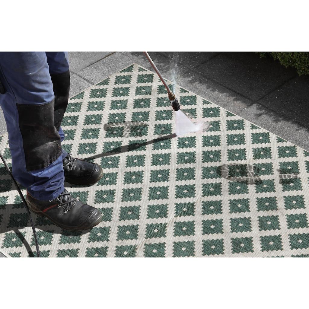 bougari Teppich »Nizza«, rechteckig, 5 mm Höhe, In- und Outdoor geeignet, Wendeteppich, Wohnzimmer
