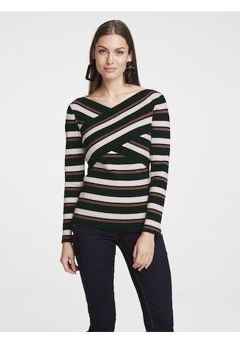 Pullover in Wickeloptik kaufen