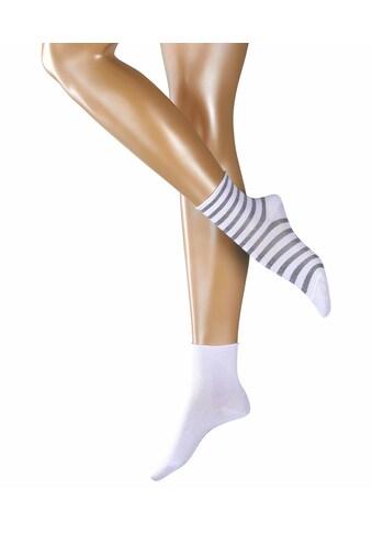 Esprit Socken »Stripe 2-Pack«, (2 Paar), mit femininen Rollrand kaufen