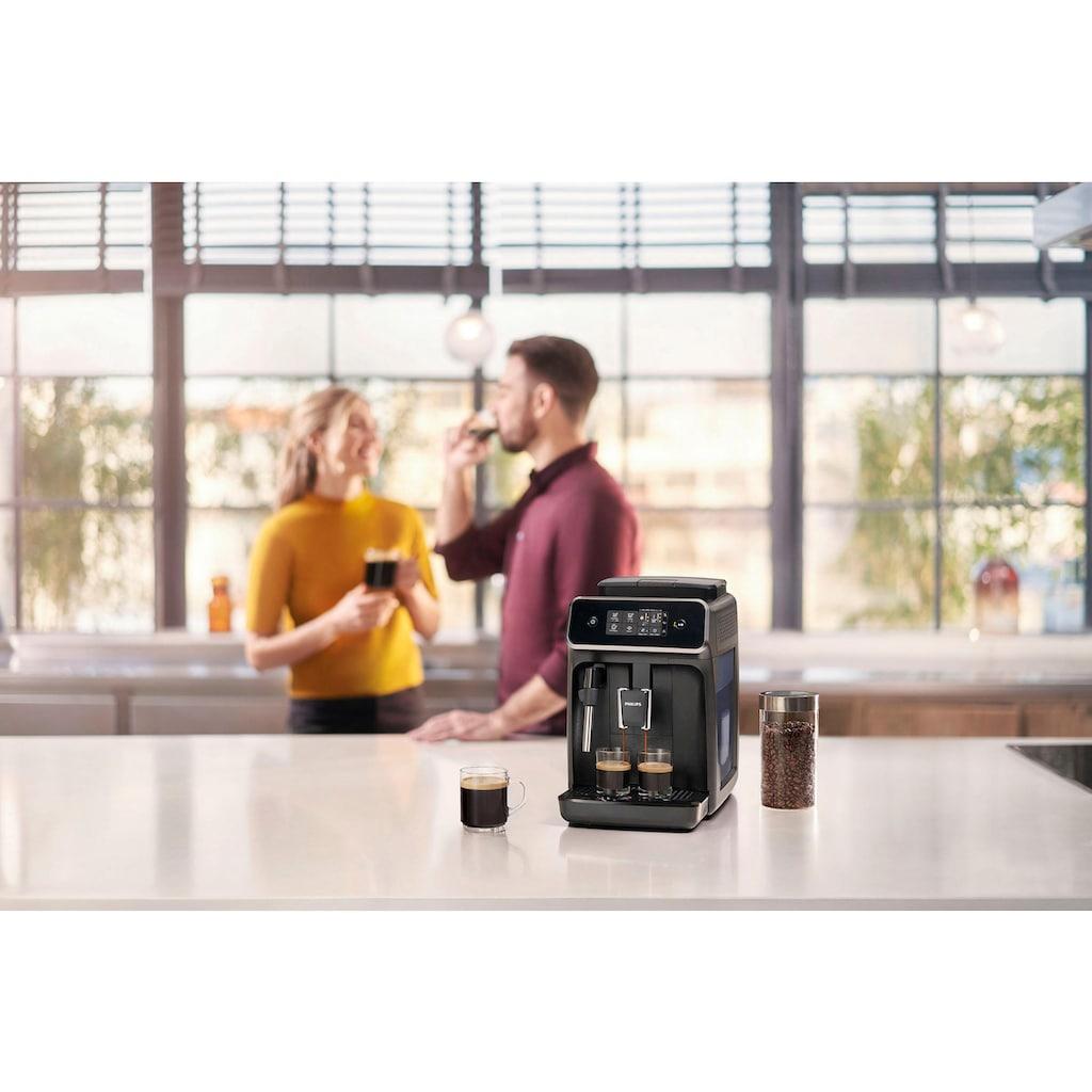 Philips Kaffeevollautomat »2200 Serie EP2221/40 Pannarello, klavierlackschwarz«