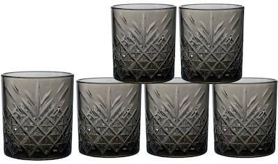 Leonique Whiskyglas »Lelant«, (Set, 6 tlg.), durchgefärbtes Glas mit dekorativer... kaufen