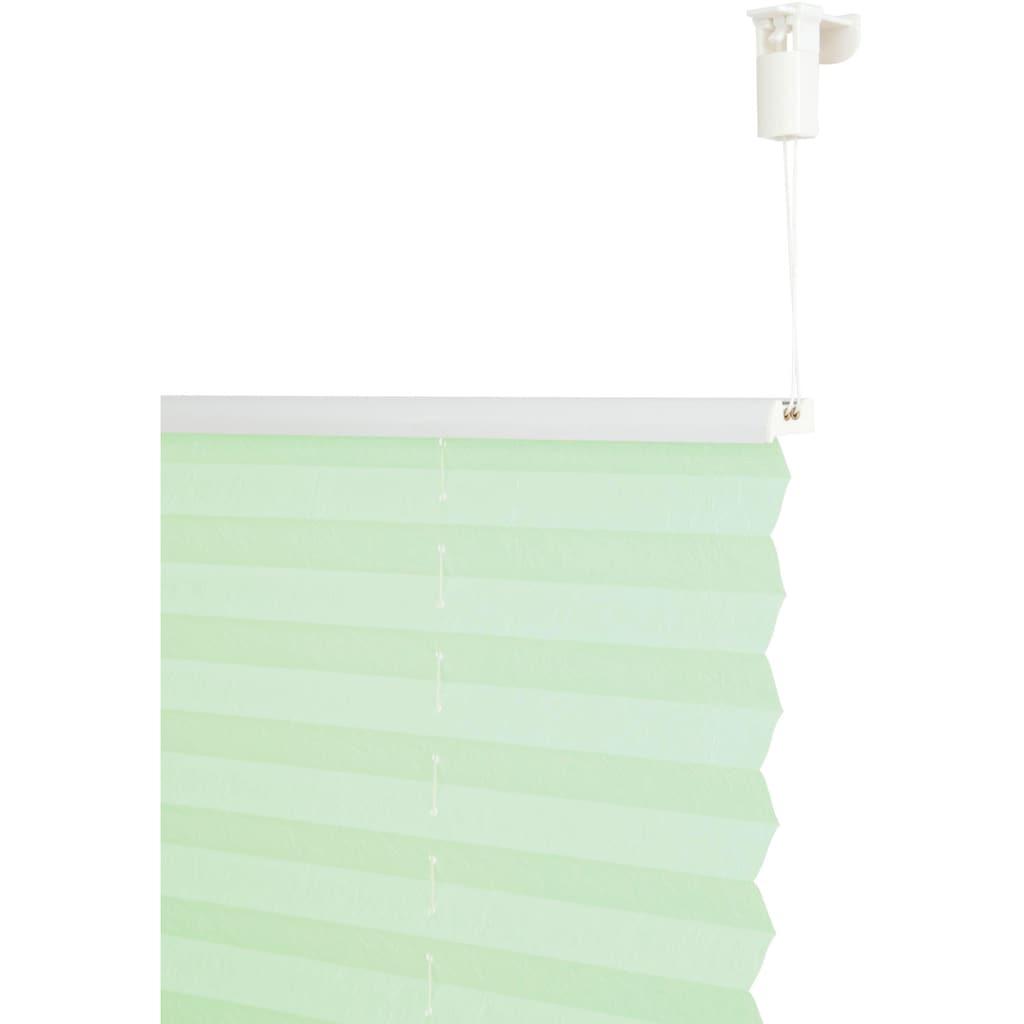 my home Plissee »DAHRA«, Lichtschutz, ohne Bohren, verspannt, im Fixmaß, Crushed-Optik