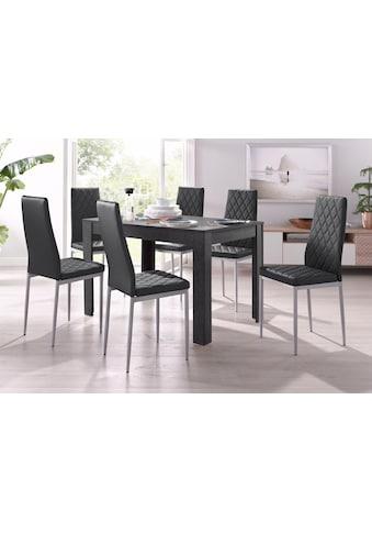 my home Essgruppe »Lynn + Brooke«, (Set, 5 tlg.), 4 Stühle mit Tisch in... kaufen