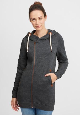 OXMO Kapuzensweatjacke »Vicky Zip Hood Long« kaufen