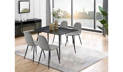 Leonique Essgruppe »Eadwine«, (Set, 5 tlg.), bestehend aus Eadwine Esstisch 120 cm und 4 Eadwine Esszimmerstühlen kaufen