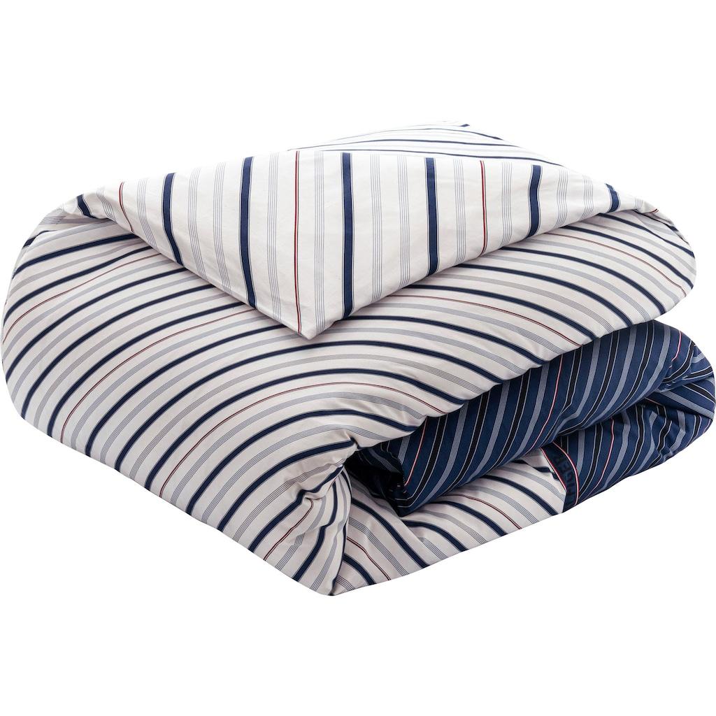 TOMMY HILFIGER Wendebettwäsche »Club Stripes«, mit diagonalen Streifen