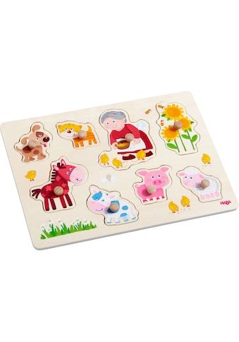 Haba Steckpuzzle »Oma Lenis Tiere«, (8 tlg.) kaufen