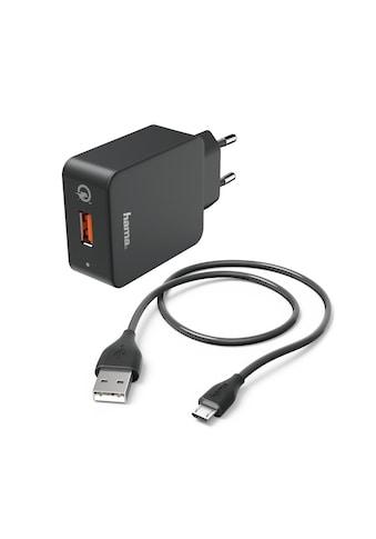 Hama Ladeset, Micro USB, 3 A, Ladegerät QC 3.0 + Micro - USB - Kabel »1,5 m, Schwarz« kaufen