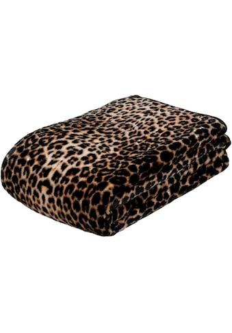Gözze Wohndecke »Leopard«, mit gedrucktem Motiv kaufen