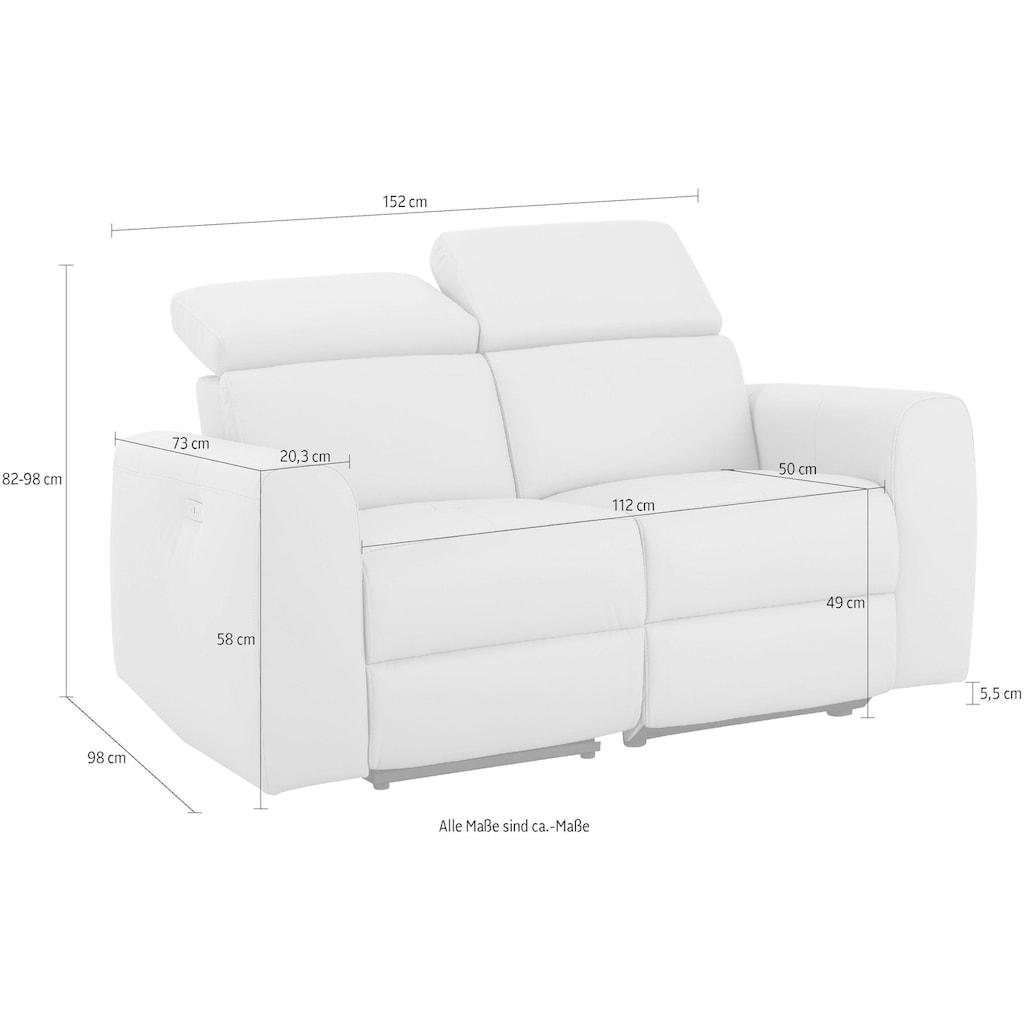 Home affaire 2-Sitzer »Sentrano«, wählbar zwischen manueller oder elektrischer Relaxfunktion mit USB-Anschluß, auch in NaturLEDER