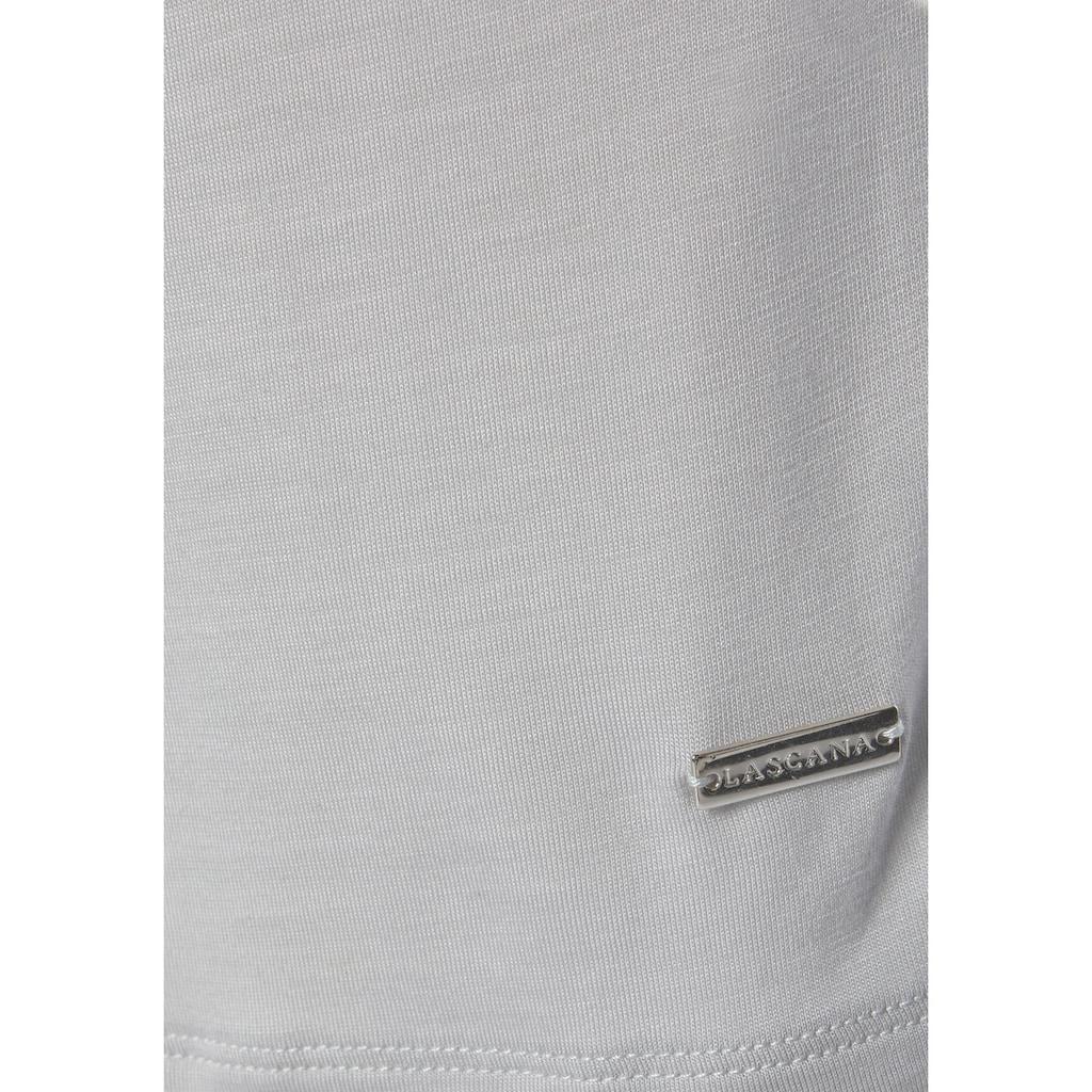 LASCANA Nachthemd, mit überschnittener Schulter und schmalen Ärmeln