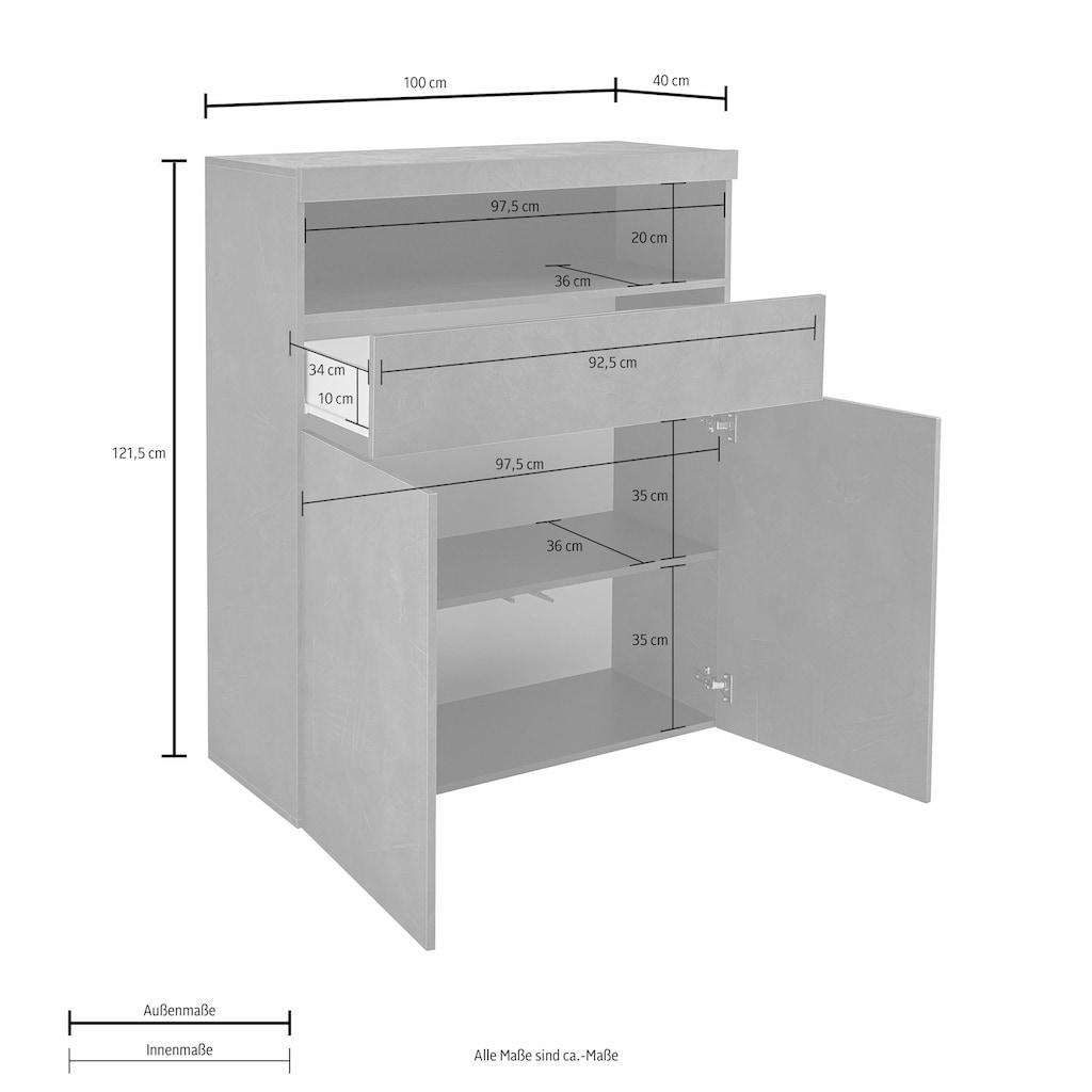 Tecnos Highboard, Breite 100 cm