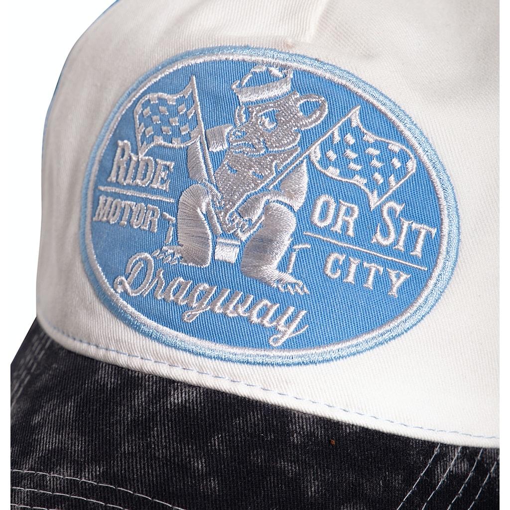 KingKerosin Trucker Cap »Ride or sit«, in Vintage-Optik