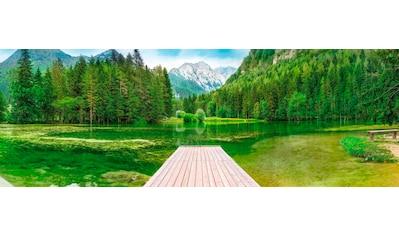 Komar Fototapete »Green Lake«, bedruckt-Wald-Meer, ausgezeichnet lichtbeständig kaufen