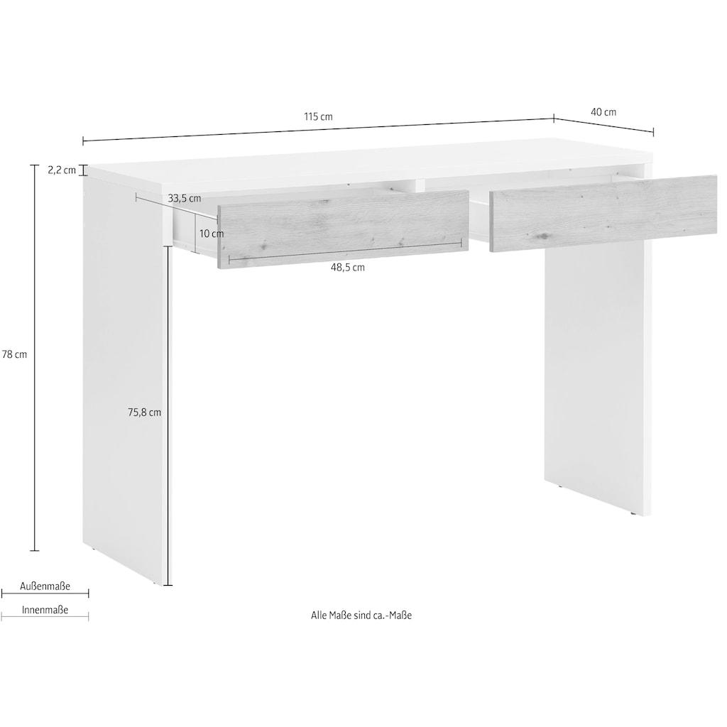 my home Schminktisch »Astral«, mit zwei Schubkasten, einer Arbeitshöhe von 78 cm, Breite 115 cm