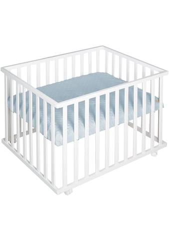 roba® Laufgitter »Style weiß, 75x100 cm«, bis 15 kg, mit Laufgittereinlage hellblau/sky kaufen