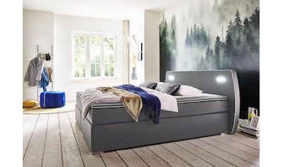 ATLANTIC home collection Boxspringbett, inklusive LED-Beleuchtung und Topper kaufen