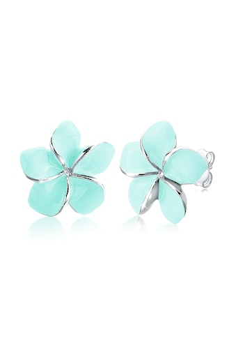 Elli Paar Ohrstecker »Frangipani Blüte Emaille 925 Silber« kaufen