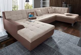 domo collection xxl wohnlandschaft wahlweise mit bettfunktion kaufen bei otto. Black Bedroom Furniture Sets. Home Design Ideas