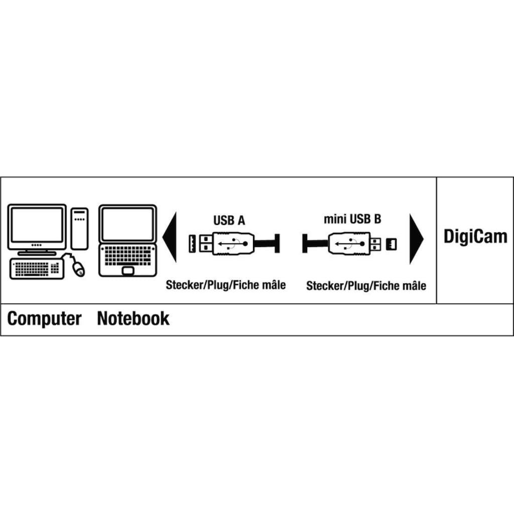 Hama USB-Kabel »1,8 m, Schwarz«, USB Typ A, USB 2.0 Mini-B, 180 cm, A-Stecker - Mini-B-St. (B8 Pin)