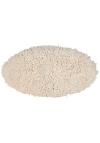 Theko Exklusiv Wollteppich »Flokos 2«, rund, 70 mm Höhe, Hochflor, reine Wolle, handgewebt, Wohnzimmer kaufen