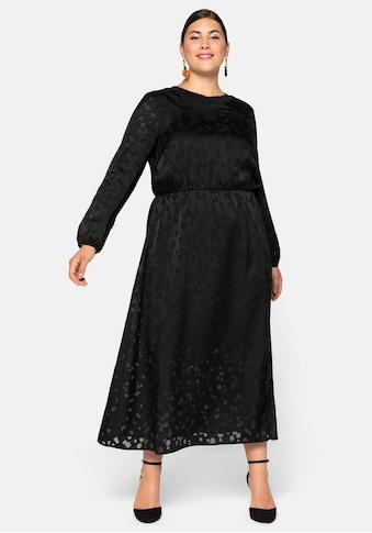 Sheego Partykleid, in Ausbrenneroptik kaufen