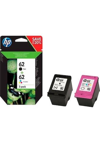 HP Tintenpatrone »hp 62, original, N9J71AE, farbig schwarz, mehrfarbig 2 St./Pack.« kaufen